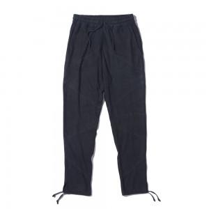 Suede long pants