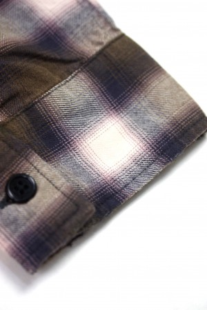 OMBRE CHECK HEAVY BLEACH SHIRTS
