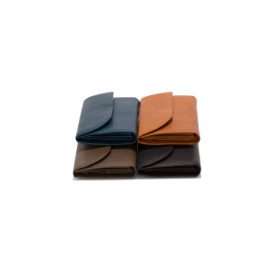 Oiled Leather Trifold Wallet M