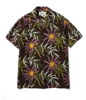 PRINTED FLOWER S/S HAWAIIAN SHIRT