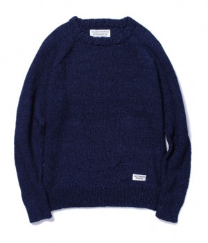 INDIGO CREW NECK SWEATER