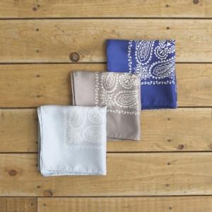 paisley pattern silk bandana