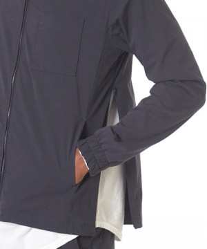 Collarless Spring Packable Stretch Jacket