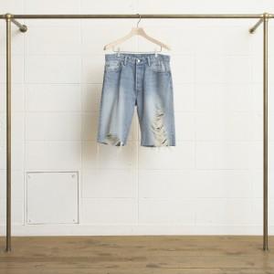CUTOFF DENIM SHORT PANT