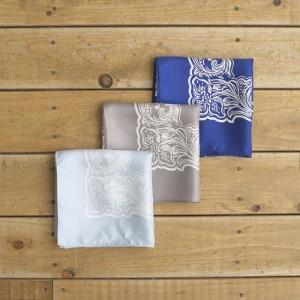 american flower pattern silk bandana