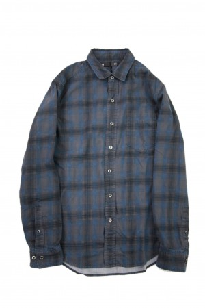 Denim Check Print Shirt
