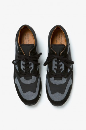 Suede Leather Military Trainer by REPRODUCTION OF FOUND