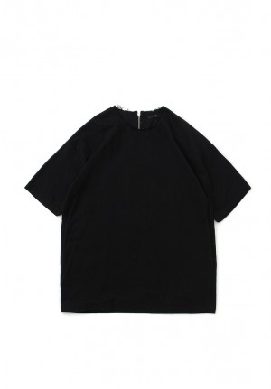 PLAIN ZIP TEE SHIRTS