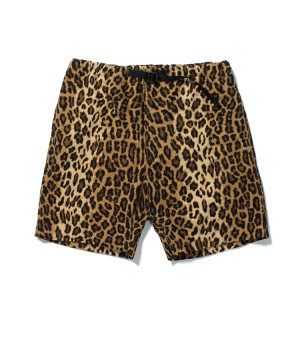 LEOPARD WEBBING BELT SHORTS