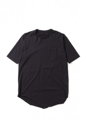 IRREGULAR HEM POCKET TEE