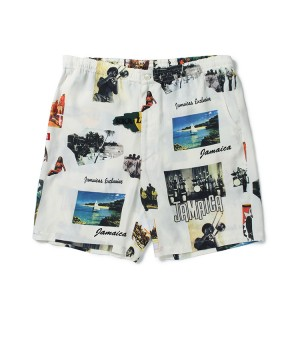 """KINGSTON JAMAICA"" HAWAIIAN SHORTS"