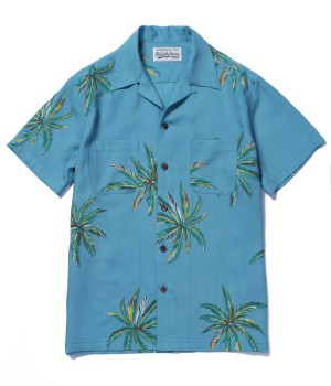 """PALMS"" S/S HAWAIIAN SHIRT"