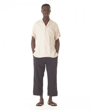 Packable Wide Ankle Cut Stretch Pants