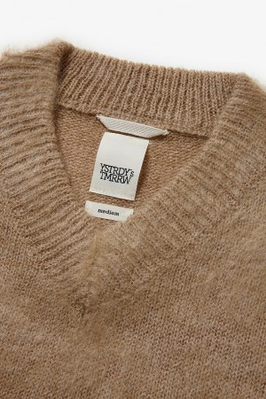V NECK MOHAIR SUB-POP SWEATER