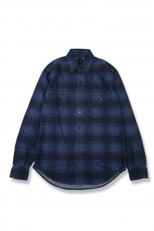 Denim Check Print