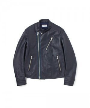 Stand Collar Waldes Zip Riders Jacket