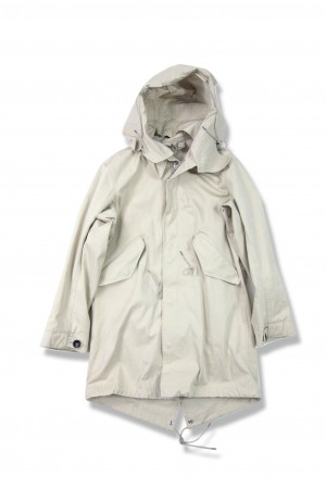 PARKA GARMENT DYED KNITTED NYLON/POLYESTER MICRO-FIBRE