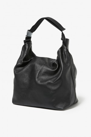 COW LEATHER ROLLTOP BAG