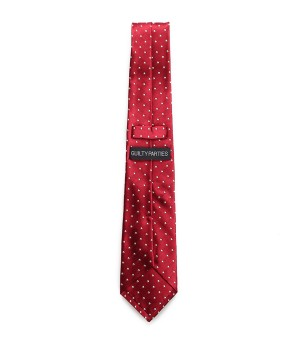 SMALL DOTS WIDE NECKTIE