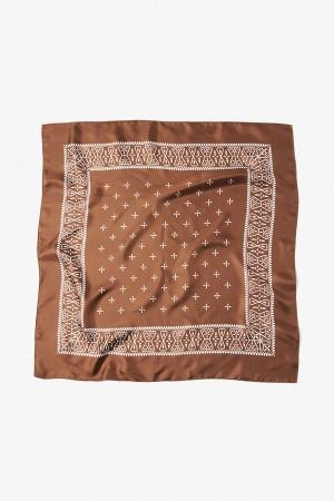 Cross Pattern Silk Bandana