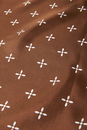 Cross Pattern Silk Bandana