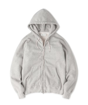 Overdyed Hooded Zip-Up Sweat