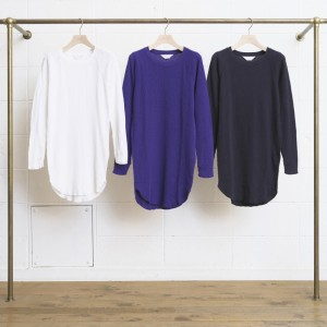 Long-Sleeve Waffle Long T-shirt