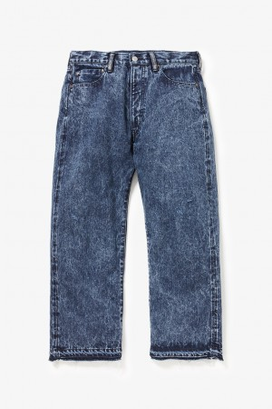 CHEMWASH WIDE LEG LODEO JEANS