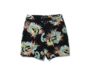 """JAMAICA FLOWER"" PLEATED SHORT TROUSERS"