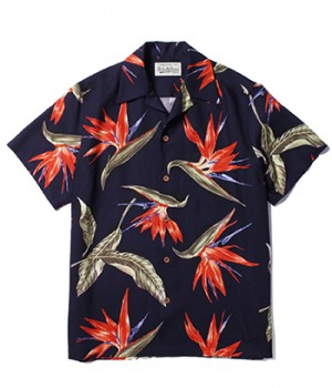 """BIRD OF PARADISE"" S/S HAWAIIAN SHIRT"