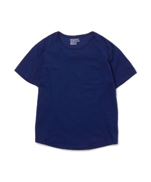 Indigo Damaged Pocket Tee