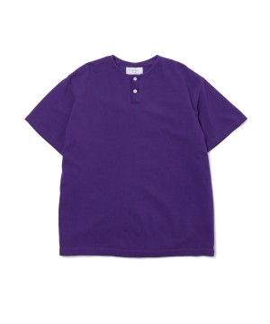 Overdyed Henley-Neck Polo Shirt – Easy Fit