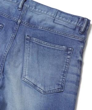 Damaged Denim Stretch Pants – Ankle Cut