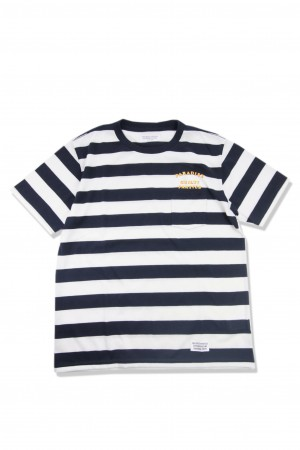 STRIPED CREW NECK T-SHIRT(TYPE-6)