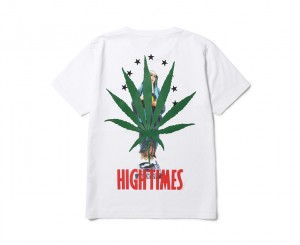 HIGHTIMES × WACKO MARIA WASHED HEAVY WEIGHT CREW NECK T-SHIRT ( TYPE-11)