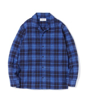 Open Collar Check Shirt