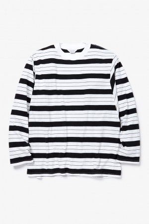 long sleeve border t-shirt