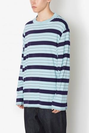 long sleeve border t-shirt