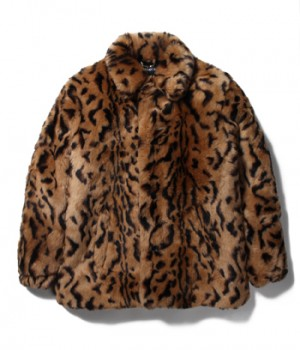 LEOPARD FUR COACH JACKET