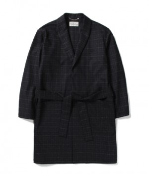 BLURRED CHECK GOWN COAT