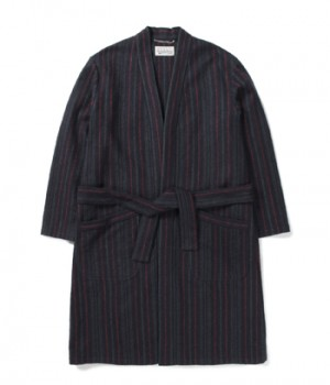 MULTI STRIPED GOWN COAT