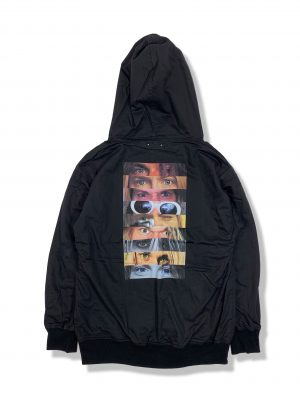 Eye Print Hooded