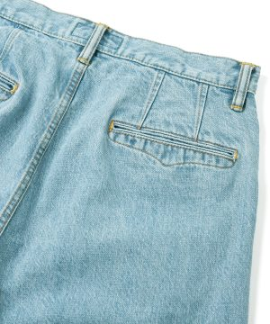 Ice Wash Denim Pants – Easy Fit Tapered