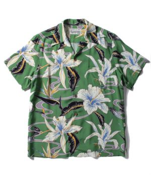 FLOWER HAWAIIAN SHIRT S/S ( TYPE-8 )