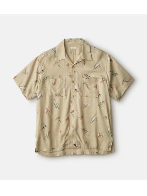 FLY PATTERN OPEN COLLOR S/S SHIRTS