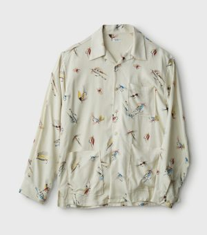 FLY PATTERN OPEN COLLOR L/S SHIRTS