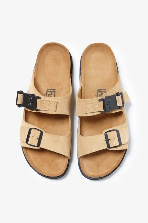 COW LEATHER SANDAL WITH UTILITY BUCKLE