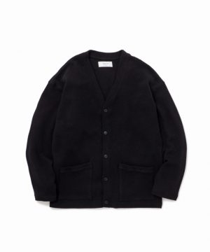 Wide Sleeve Cotton Knit Cardigan