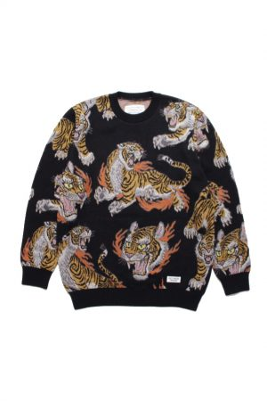 TIM LEHI JACQUARD CREW NECK SWEATER