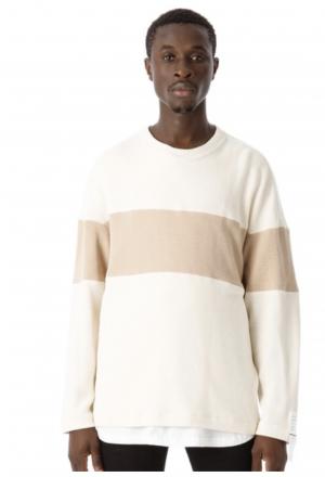 2 Tone Cotton Knit Top